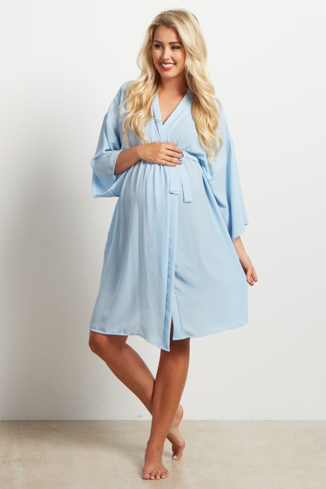55d983a77a55a A solid delivery/nursing maternity robe to make sure your visit during and  after the hospital is comfortable and stylish. This robe will make you feel  ...