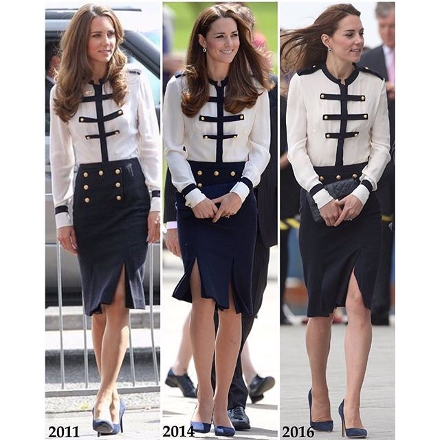 Kate's recycled #AlexanderMcQueen @WorldMcQueen today as she visits #Portsmouth {source: @Katiemidleton via Twitter}
