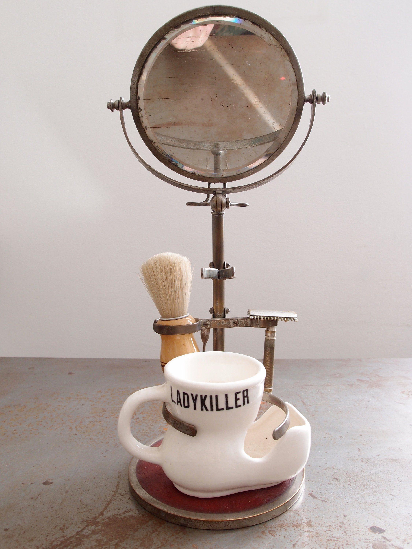 sleek order online latest discount antique shaving set with folding mirror, metal, bakelite ...