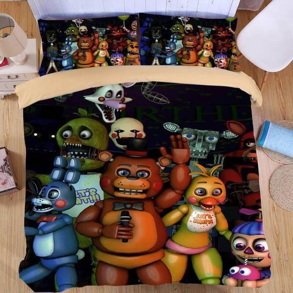3D Five Nights At Freddy's 3PCS Duvet Cover Set Bedding ...