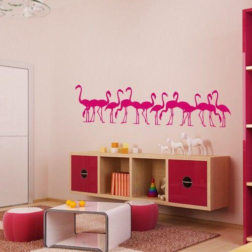 Wandtattoo Flamingofamilie http://www.wandkings.de/wandtattoo-flamingofamilie-kinderzimmer.html
