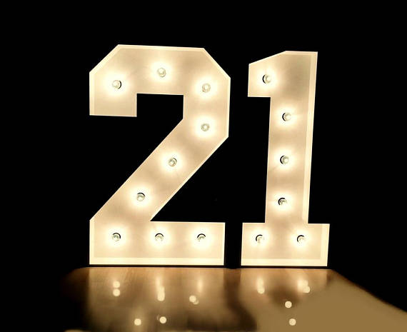 Light Up Numbers Large Marquee Number Birthday Sign Anniversary Numbers Freestanding Large L Large Light Up Letters Backyard Party Decorations Light Up Letters