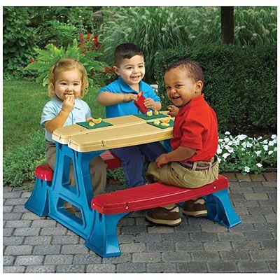 American Plastic Toys Inc Picnic Table At Big Lots Kids Picnic Table Kids Picnic Picnic Table