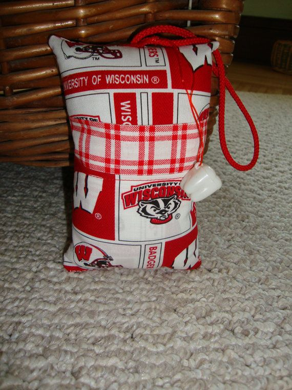 Tooth Fairy Pillow with tooth holder Wisconsin by suespecialtyshop, $6.95