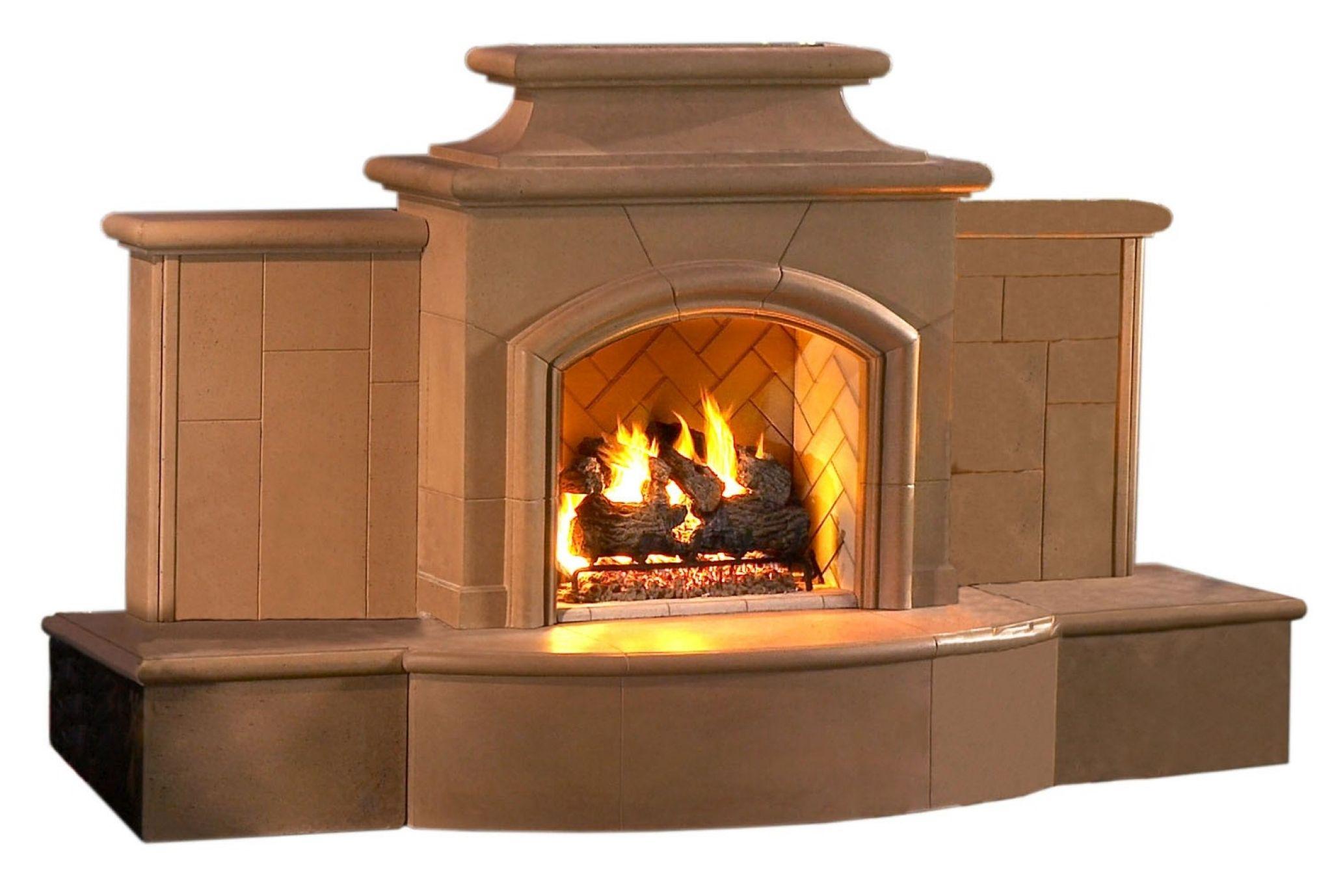 free standing outdoor gas fireplace modern interior