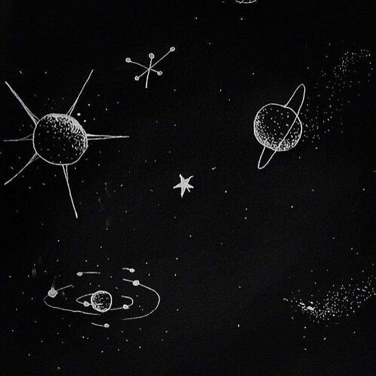 space black aesthetic - 736×736
