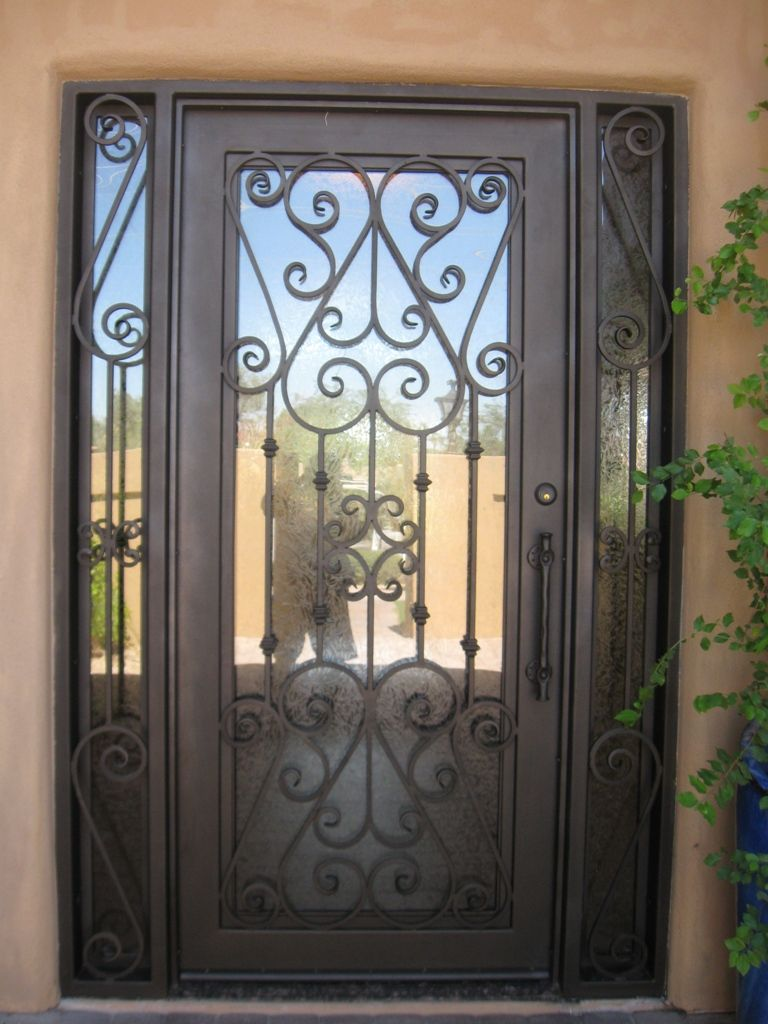 all classic irondoorsunlimited com wrought bronze prehung in depot home concord front unlimited iron oil rubbed decorative the pin door doors lite painted