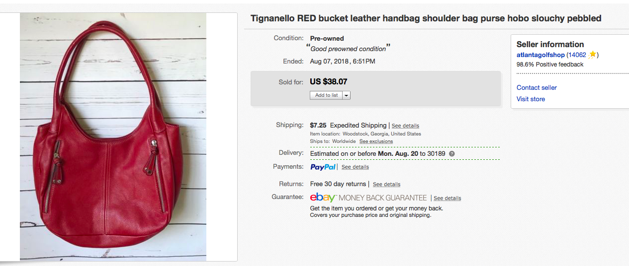 84c8acb67fca Tignanello leather purse  4 at Goodwill