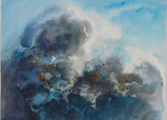 Ciel De Nuage Abstrait A L Aquarelle Ambiance Par Genevievepenloup