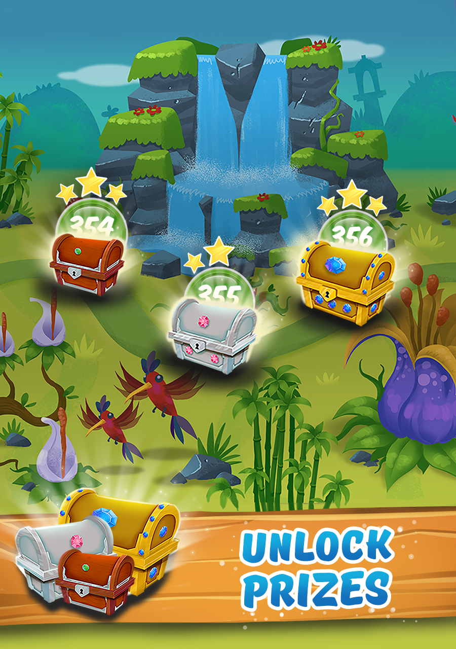 Unlock Prizes Woka Woka Funny Bubbles Challenging Puzzles Welcome To The Jungle