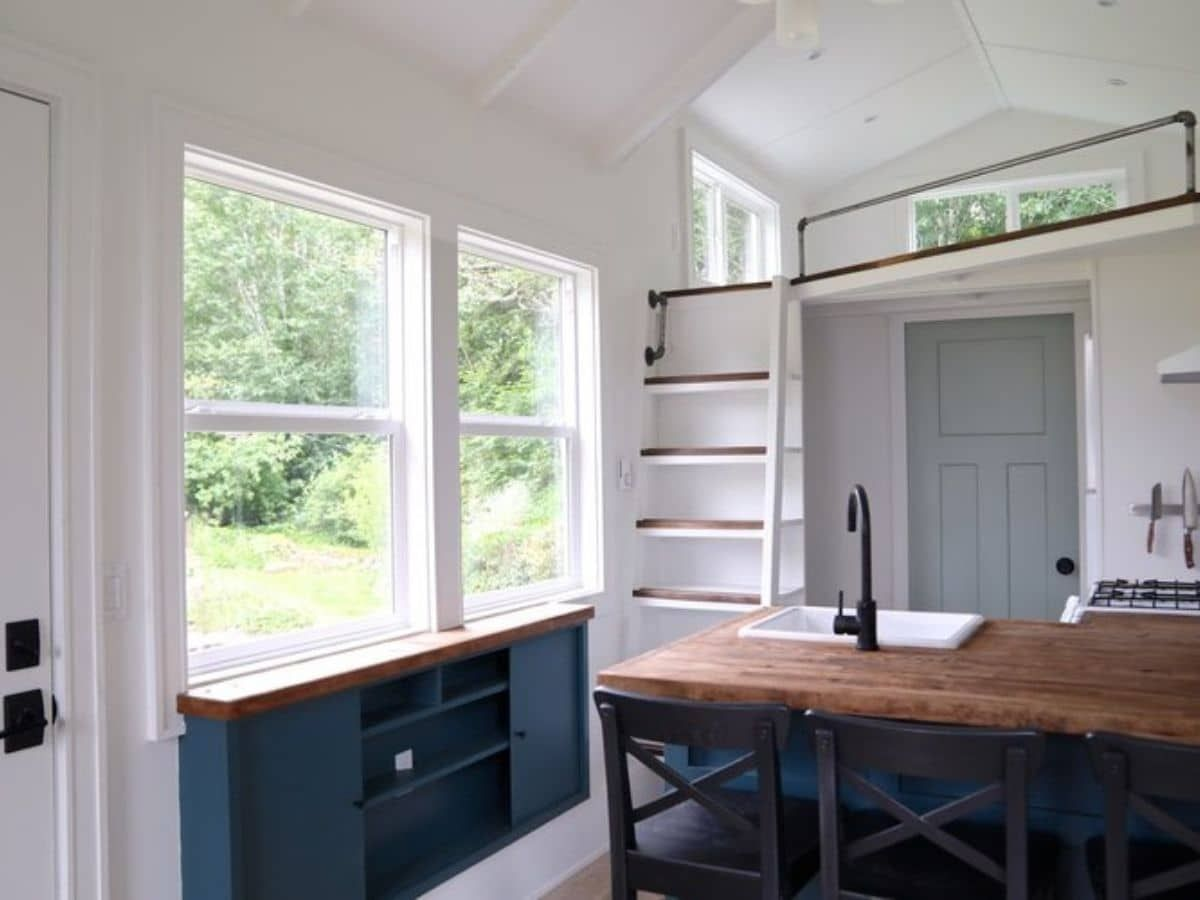 The Seabrook is a Cozy Tiny Home with a Unique Floor Plan