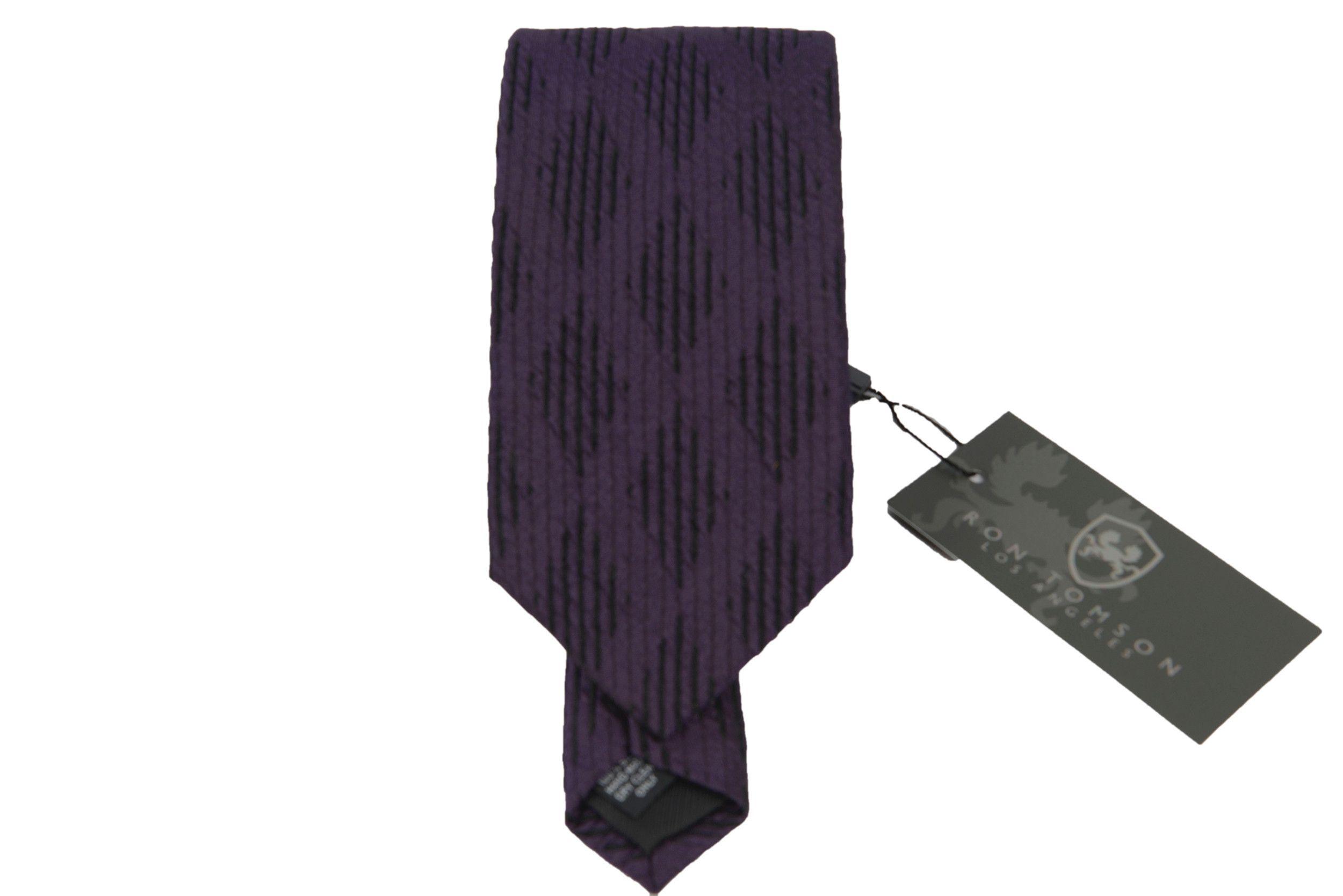 Silk Print Tie - PURPLE