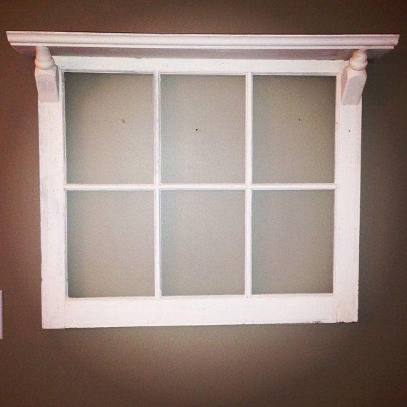 Six Pane Window Frame with Top Shelf | Window frames ...
