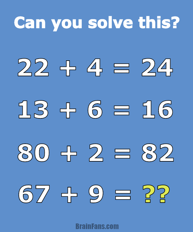 Brain teaser - Number And Math Puzzle - math problem for geniuses ...