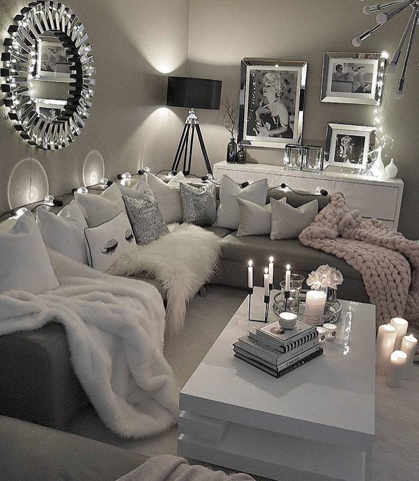 10 26 fashion - Grey white and silver bedroom ideas ...