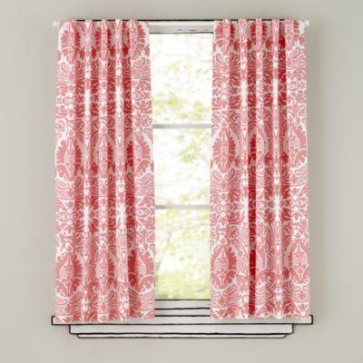 Aqua Walls Pink And Coral Accents Via Land Of Nod Curtains