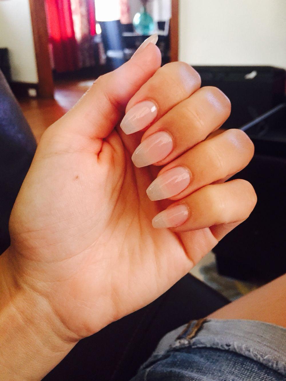 Fresh set #Coffin nails #Essie natural color | nails | Pinterest ...