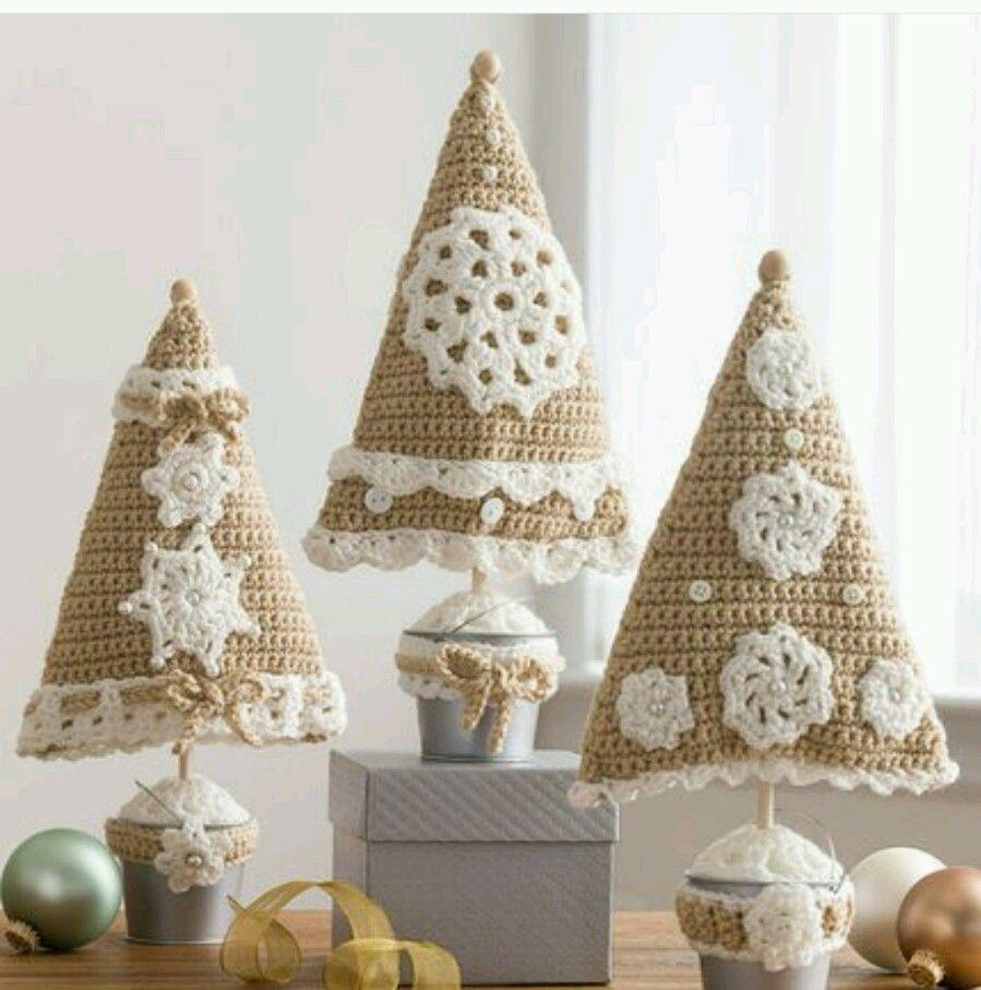 Handmade Crochet Christmas Tree Pillows or Decor | navidad ...