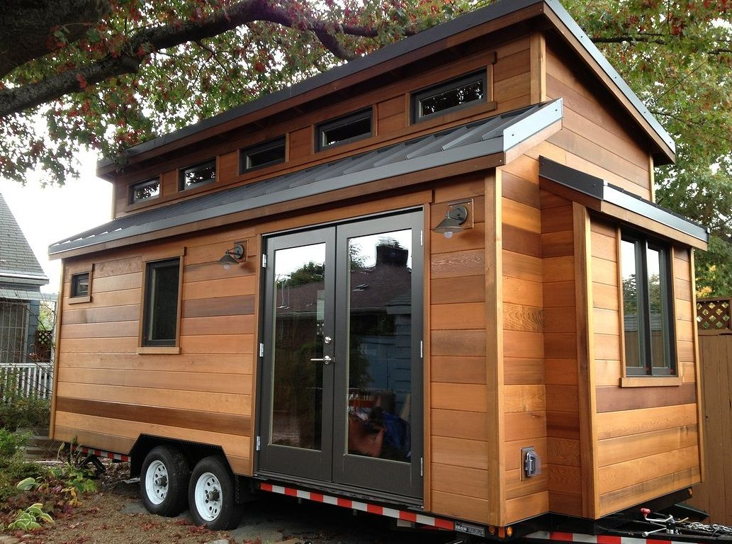 the 224 sq ft cider box tiny house by shelterwise my future home pinterest kleines. Black Bedroom Furniture Sets. Home Design Ideas