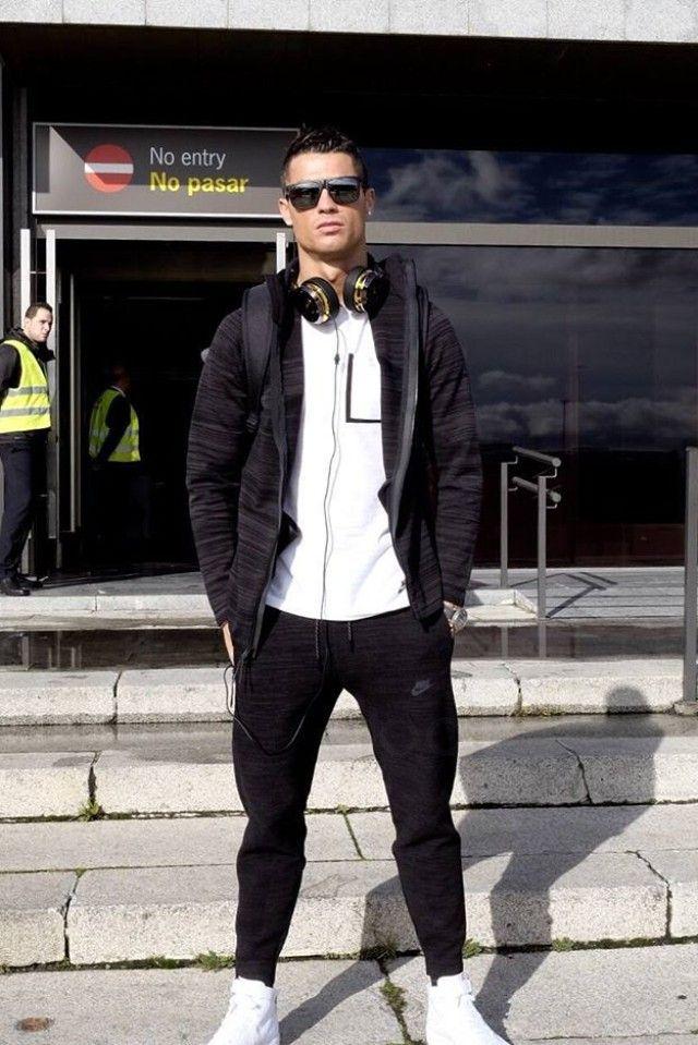 Cristiano Ronaldo wearing Nike Bonded Pocket Tee, Tag Heuer