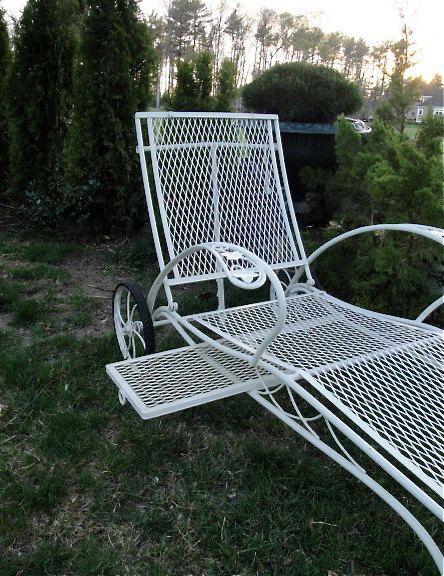Salterini Patio Furniture Parts: Vintage Wrought Iron Salterini Chaise In Mount Vernon