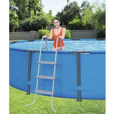 Bestway 15ft x 42in Steel Pro Max Round Frame Above Ground Pool and Vacuum