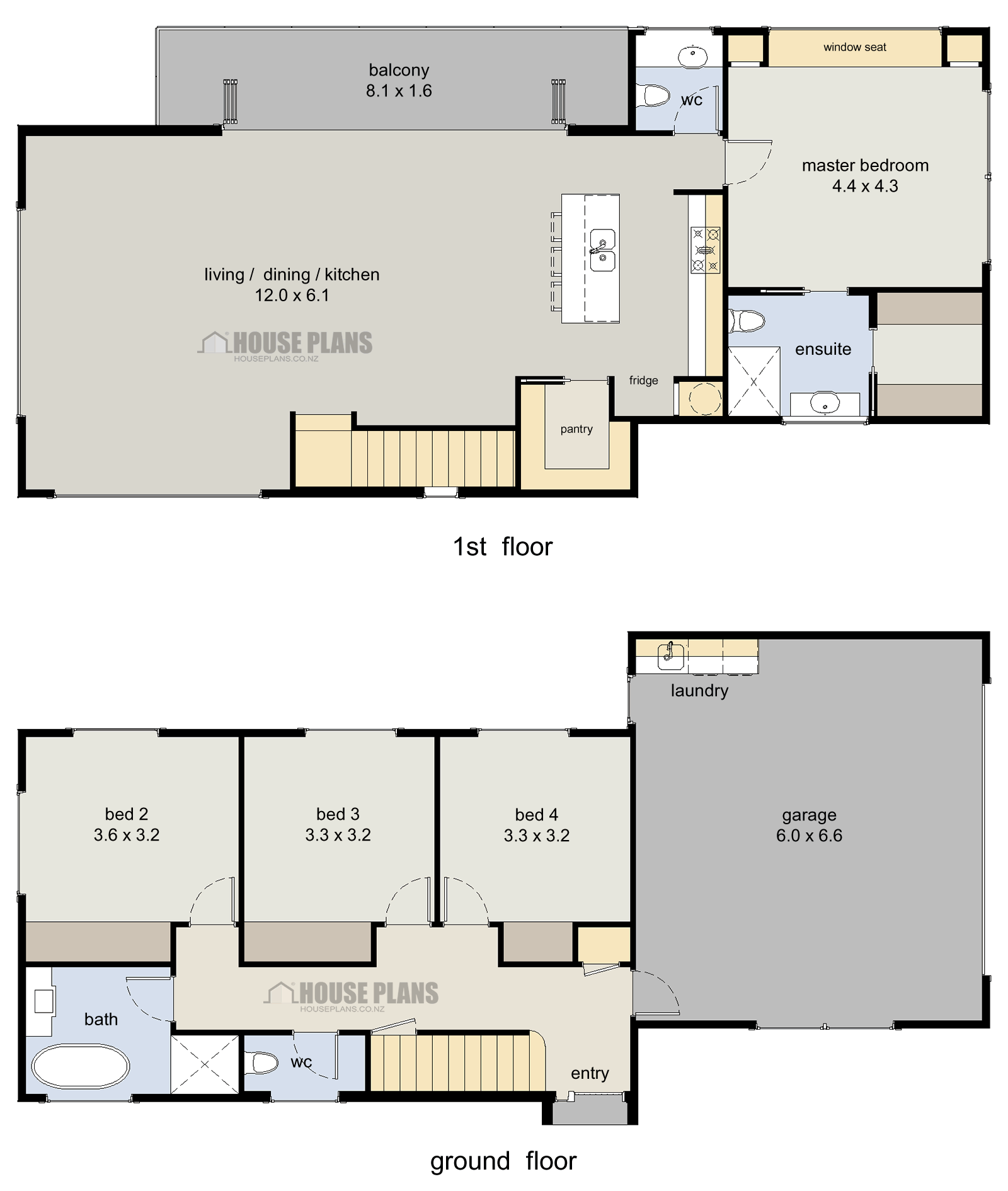 wanaka 4 bedroom 2 storey posted in 4 bedroom house plans