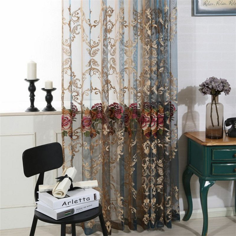 High End Living Room Bedroom Hotel Villa Balcony Wedding Curtains Luxury Polyester Embroidery Screens Curtains Living Room Curtains Luxurious Bedrooms