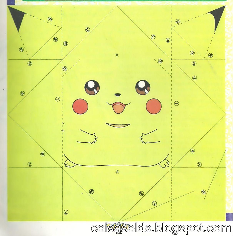origami pikachu   DIY Crafts   Origami, Origami paper, Pikachu - photo#17