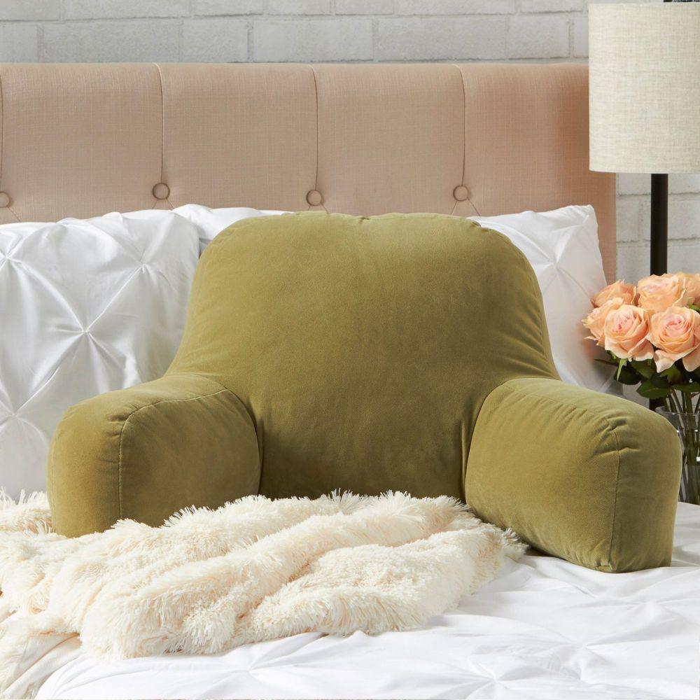 bed rest pillow back support arm stable backrest reading bedrest