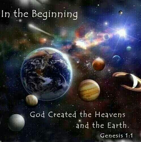 In the Beginning God created the heaven and the earth. - Genesis 1:1 | In the beginning  god, God first, God