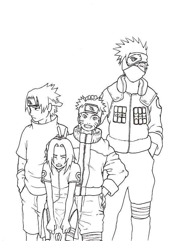 Coloring Sasuke Naruto Sakura And Kakashi Coloring Page Naru With Coloring Pages For Kids Gaara Anime Mang Desenhos Para Colorir Naruto Naruto Kakashi Desenhos
