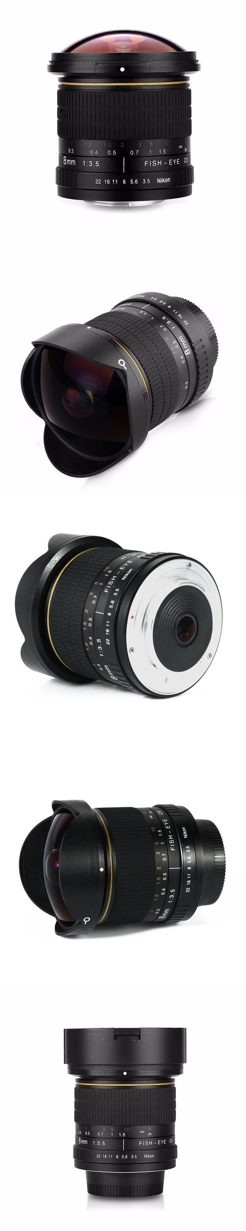 8mm F/3.5 Ultra Wide Angle Fisheye Lens for APS-C/ Full Frame Nikon ...