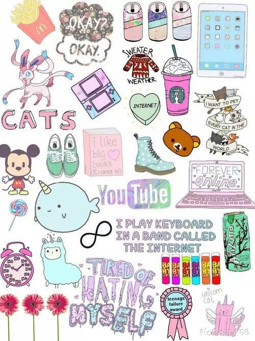 Tumblr Collage Wallpaper Teen Emoji Cool Cute Wallpapers
