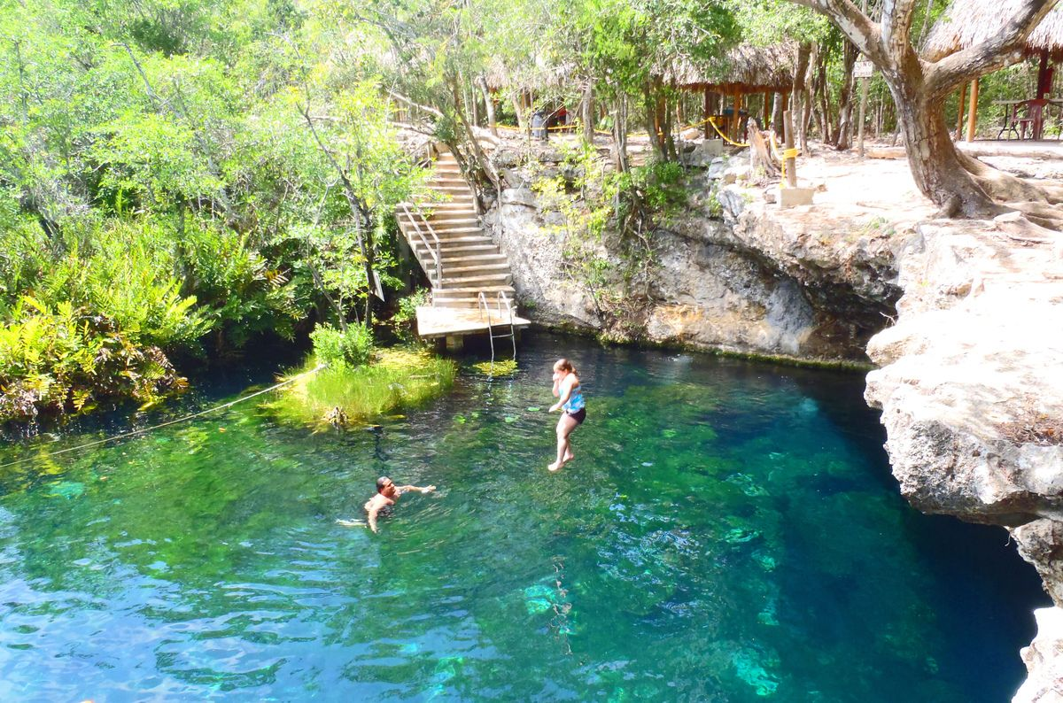 Cenote eden quintana roo mexico places to visit for Jardin del eden