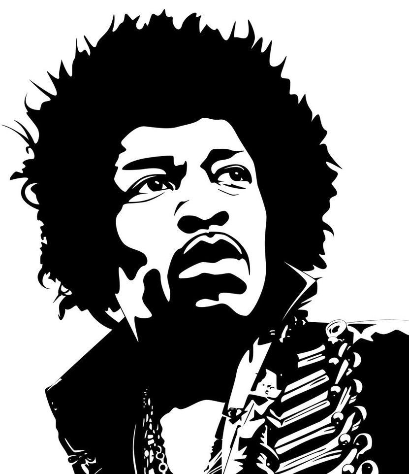 25+ Printable Jimi Hendrix Stencil Background