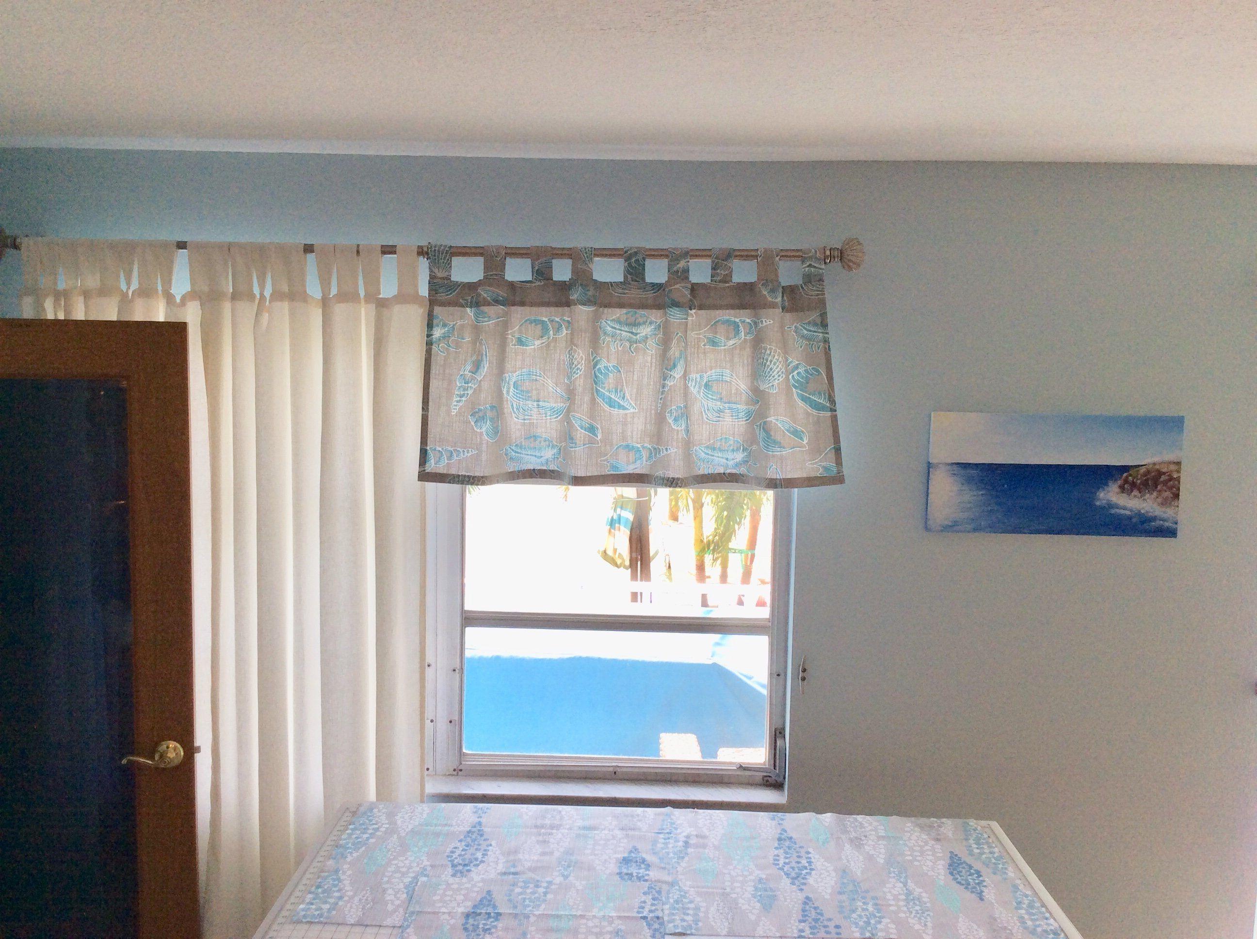Tab Top Seashell Valance Valance Cafe Curtains Home Decor Fabric