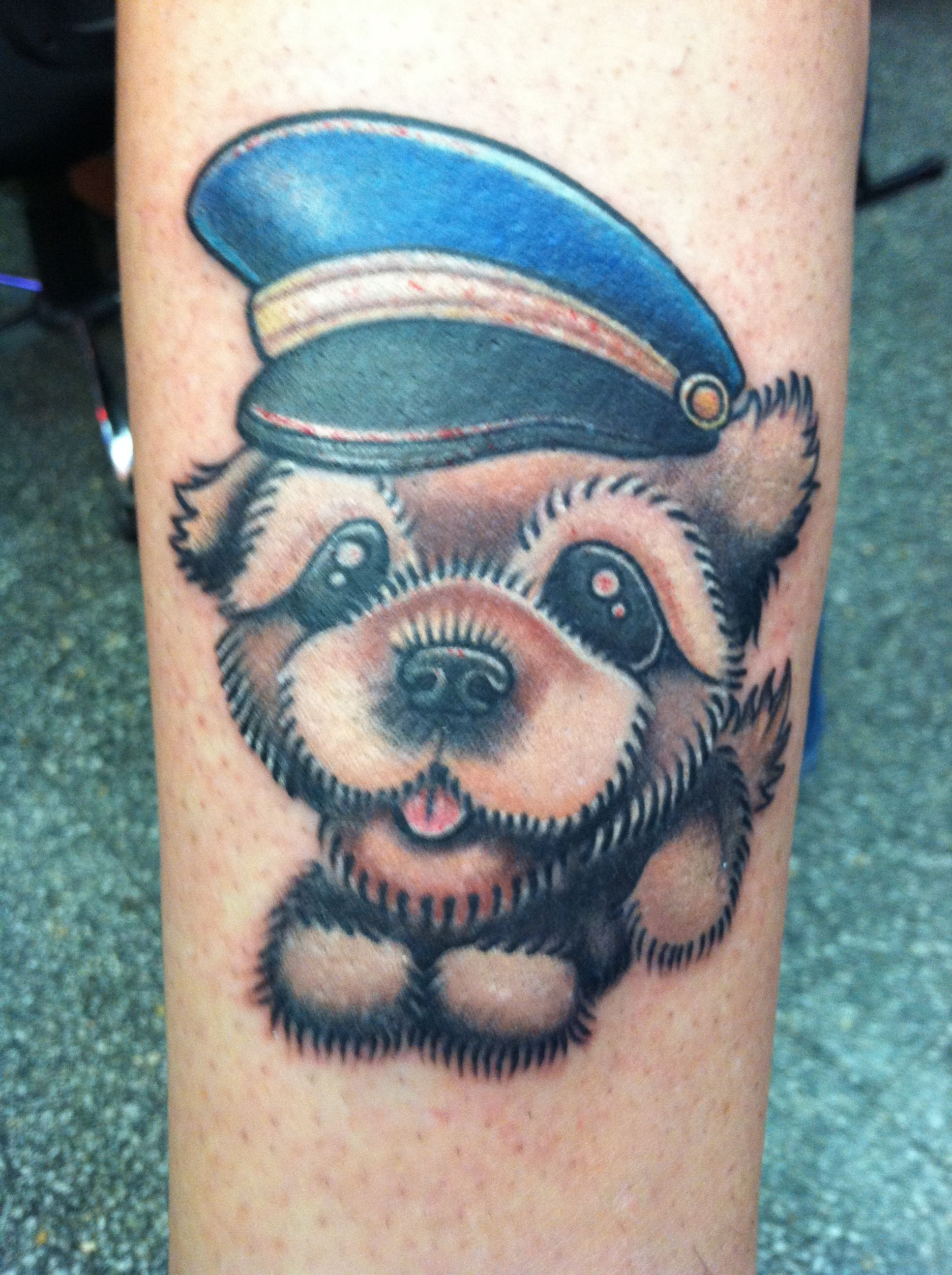 Pomeranian dog tattoo Tattoo by Bob Tyrrell at Nightmare Gallery ...