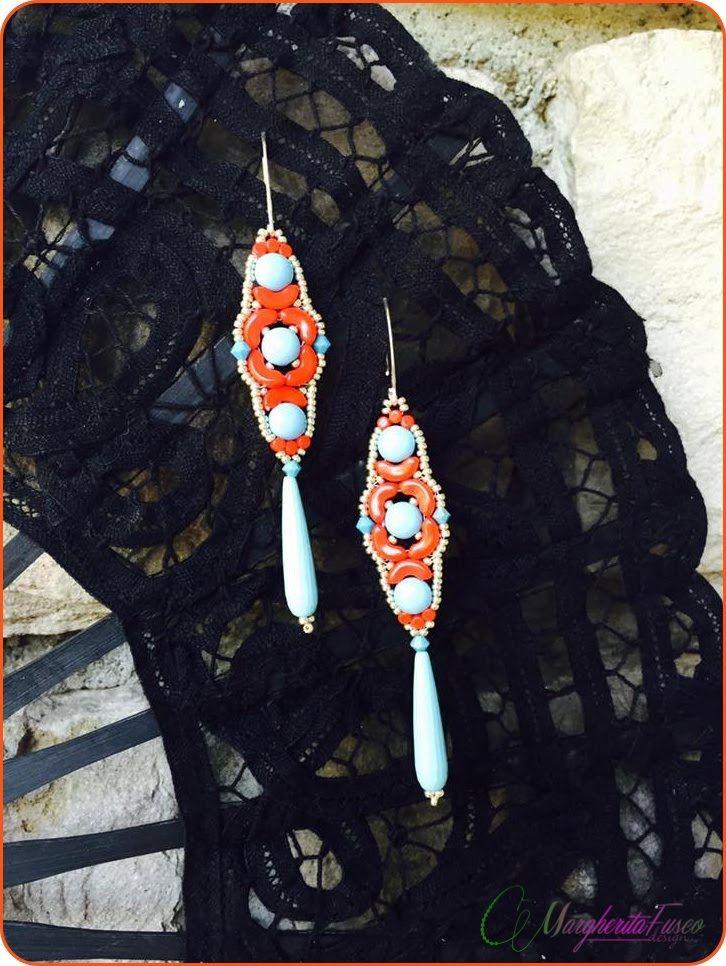 Tutorial con perline arcos minos e candy. Come fare orecchini Frida.