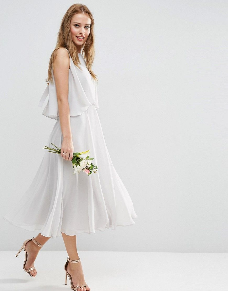 Best Image of ASOS WEDDING Dress with Soft Double Layer