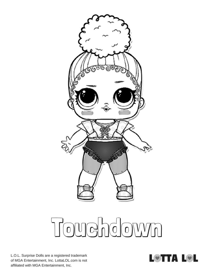 Touchdown Coloring Page Lotta Lol Coloring Pages Kids Printable Coloring Pages Lol Dolls