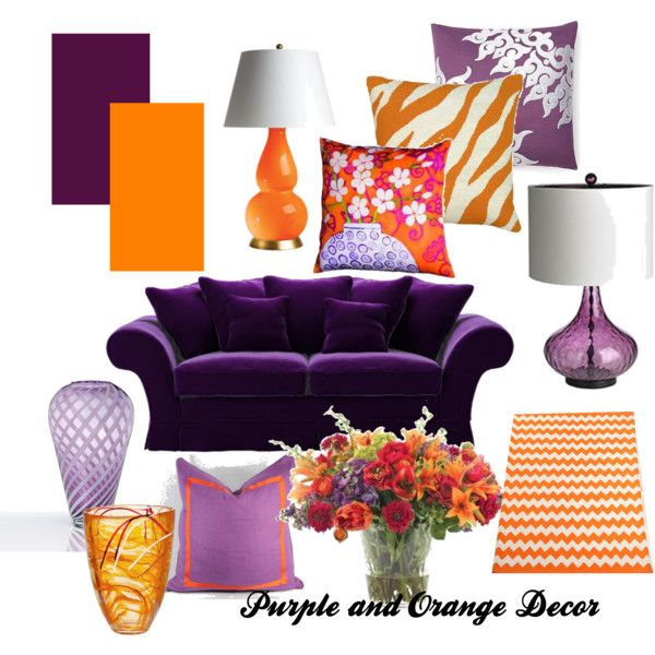 Purple And Orange Decor Designed By Sherrie Perkins