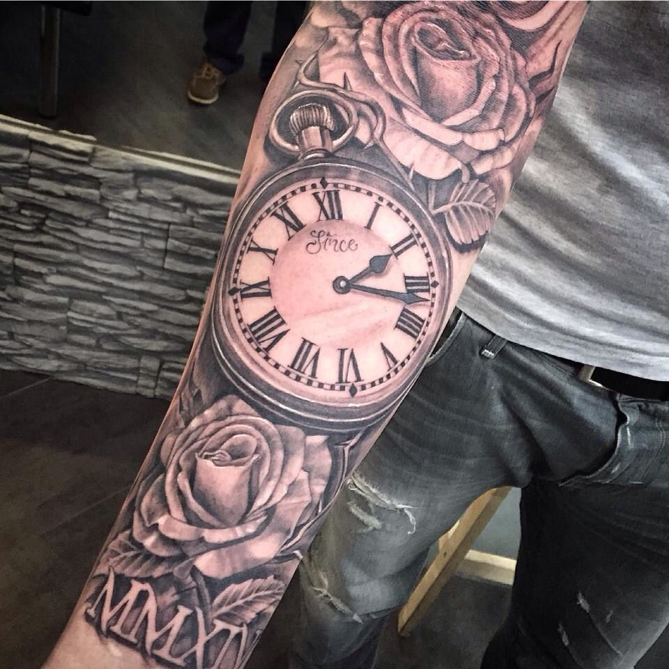 Clock sleeve tattoo pinterest clocks tattoo and tatting