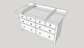 bauen sie sich einen wickelaufsatz f r ihre ikea hemnes kommode einfach selber kinderzimmer. Black Bedroom Furniture Sets. Home Design Ideas