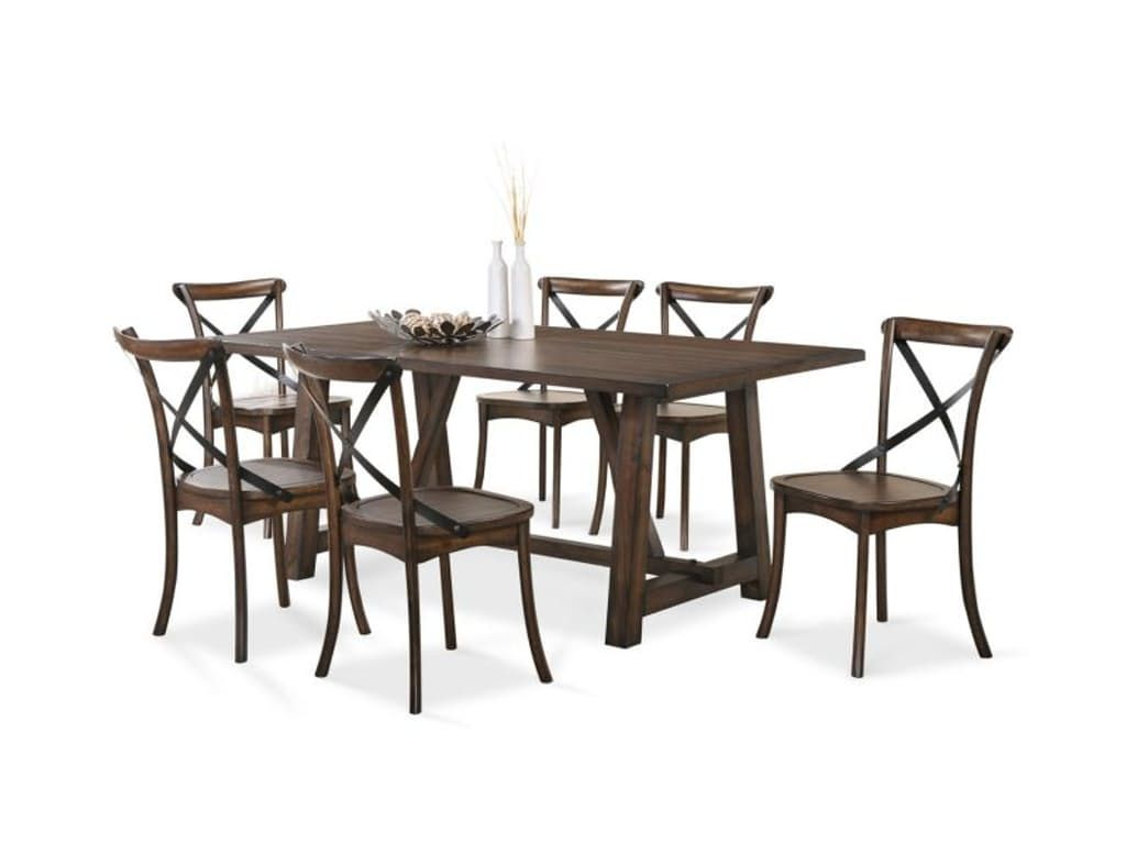 Lindsay Trestle Table with 4 Side chairs