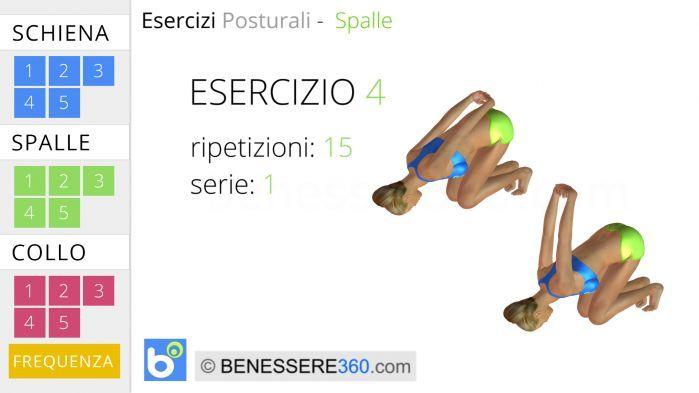 Esercizi posturali per le spalle 4 shoulder and rotator for Interno coscia palline