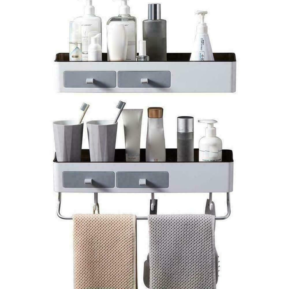 Kitchen Wall Shelves Bathroom Corner Shelf Wall Mounted Rack Free Storage In 2020 Kitchen Wall Shelves Bathroom Corner Shelf Wall Shelves
