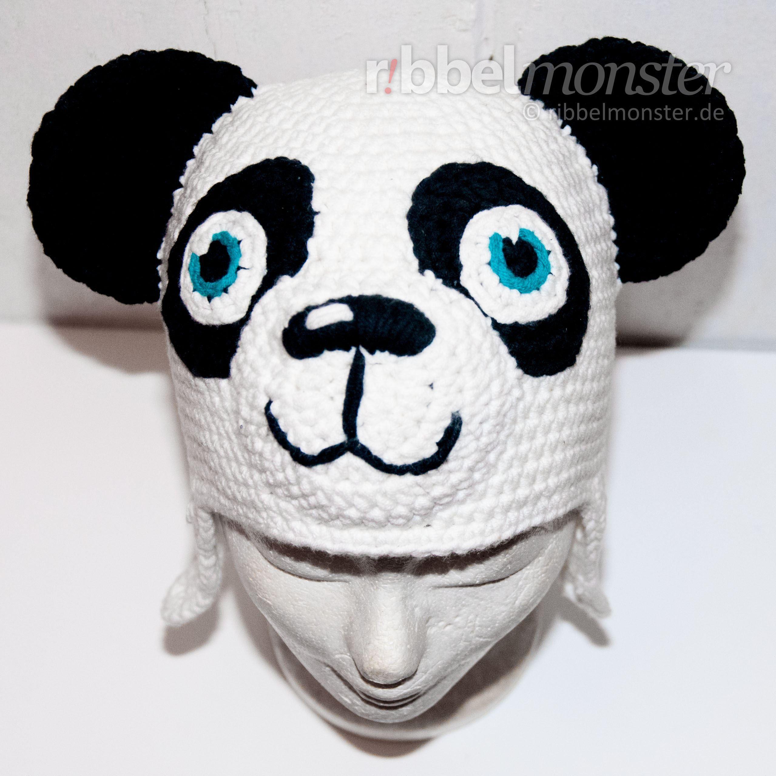 Anleitung Panda Mütze häkeln Paddy | DIY Häkeln - Pandabär ...