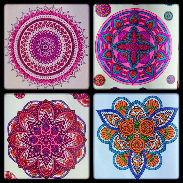 Mandalas Colored With Gel Pens And Ultra Fine Points Sharpie Coloring By Me Sharpie Colors Gel Pens Coloring Gel Pens