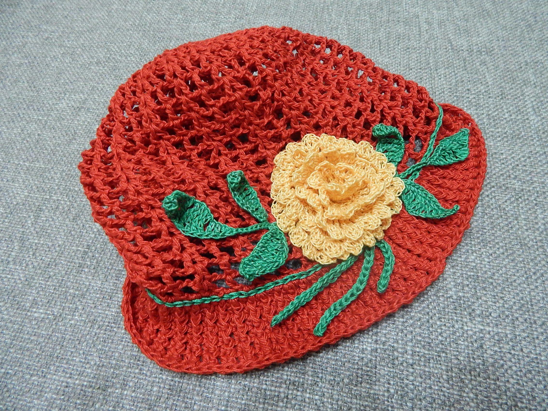 Dorable Patrón De Crochet Sombrero Rayado Friso - Manta de Tejer ...